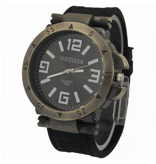 Pánske military hodinky čierne a72d8e160cd