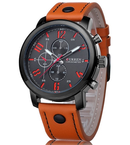 Pánske CURREN hodinky hnedé 9f6cfd755d