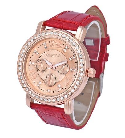 Dámske hodinky Elegance červené bebcbd817c