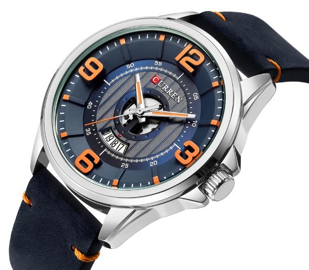Pánske hodinky C8305 s kalendárom modré cf2ca15fddb