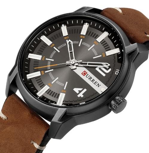 Pánske hodinky C8306 hnedé 9a9fd025b8