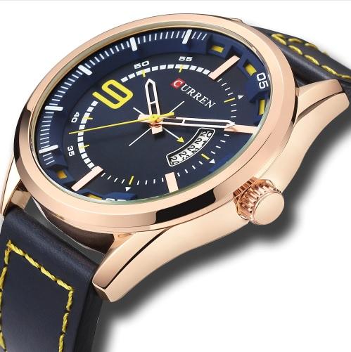 Pánske hodinky C8295 s kalendárom modré 4791f7924d3
