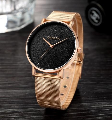 Dámske hodinky Geneva GZC ružové zlato c13147ff0c7