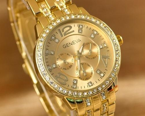 aae3f9c5c DÁMSKE hodinky | Hodinky s kamienkami zlaté | MiniStore.sk - Geneva ...
