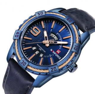Pánske hodinky NF9117M s kalendárom modré 315dc28041